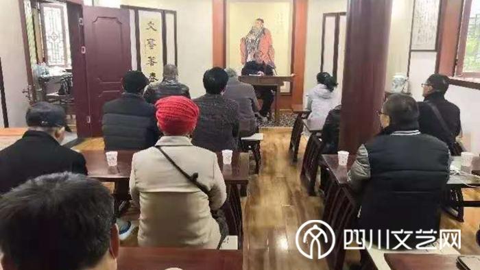 """广安区作家协会举办""""作家的境界和责任""""讲座_副本.jpg"""